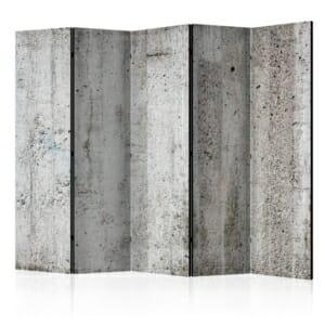 Двустранен параван като стена със сива мазилка - 5 крила