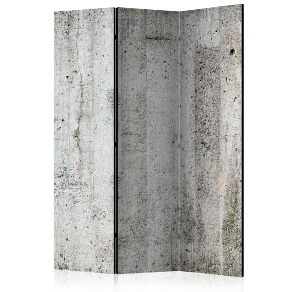 Двустранен параван като стена със сива мазилка - 3 крила