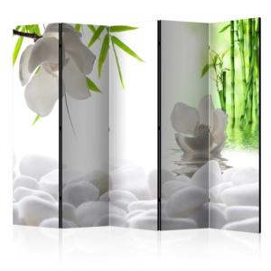 Декоративен сгъваем параван с дзен елементи - 5 крила