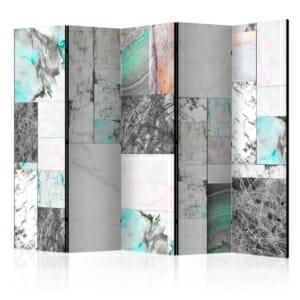 Декоративен петкрилен параван Marble Slabs II