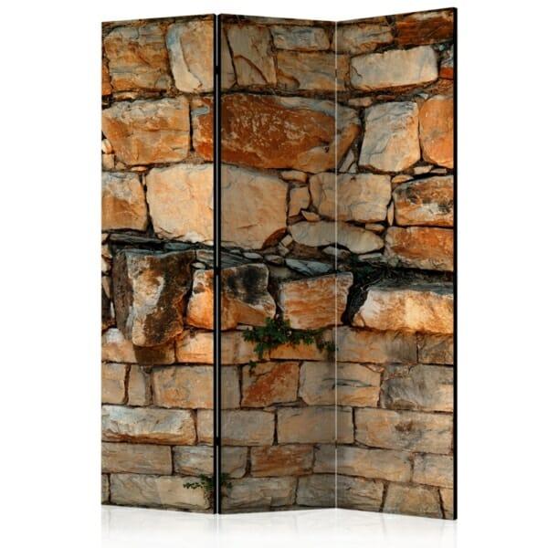 Двулицев параван имитиращ стена от тухли и камъни - 3 крила