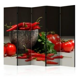 Декоративен параван за ресторант или кухня - 5-крилен