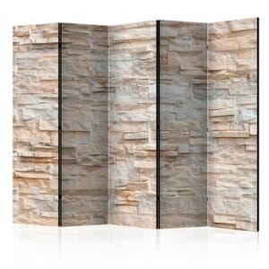 Двустранен разделител за стая като каменна стена - 5 крила