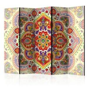 Сгъваем параван за стая с цветни мотиви