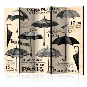 Голям сгъваем параван с винтидж чадъри