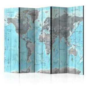 Параван за стая с карта на земното кълбо Wooden Travels