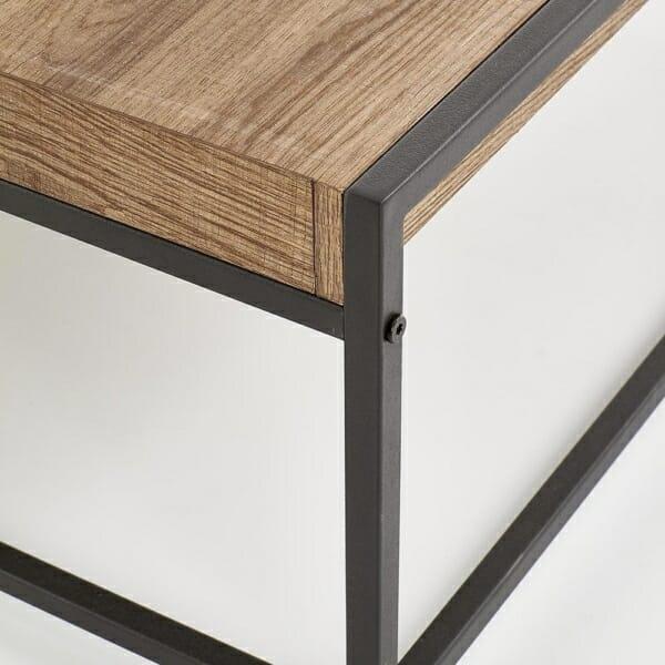 Квадратна маса от дърво с подвижен плот-детайл