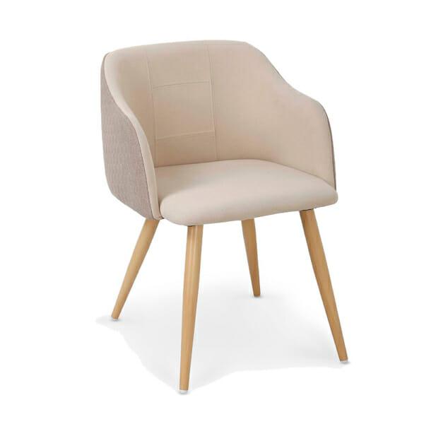 Стол с двуцветна дамаска в светли цветове