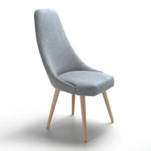 Удобен трапезен стол с висока облегалка