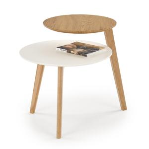 Дървена холна маса с два кръгли плота