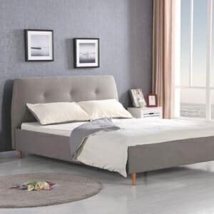 Легло на крачета със светлосива дамаска