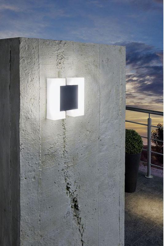 Модерен LED аплик с нетрадиционен дизайн серия Sitia - монтиран