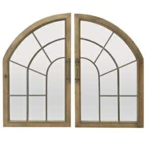 Огледало за стена като прозорец от 2 части