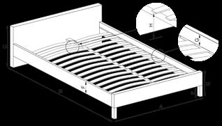 Размери схема на легло