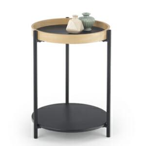 Стилна помощна маса с два кръгли плота