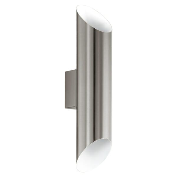 Фасаден аплик с вертикално осветяване серия Agolada - сребрист