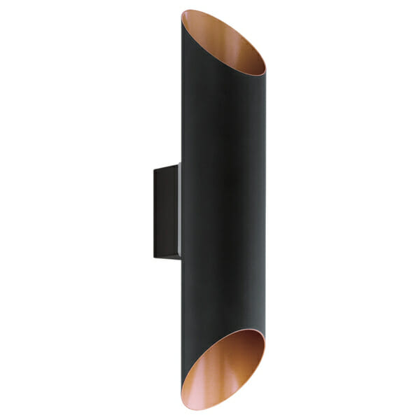 Фасаден аплик с вертикално осветяване серия Agolada - черен