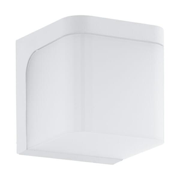 Бял фасаден LED аплик с форма на куб серия Jorba