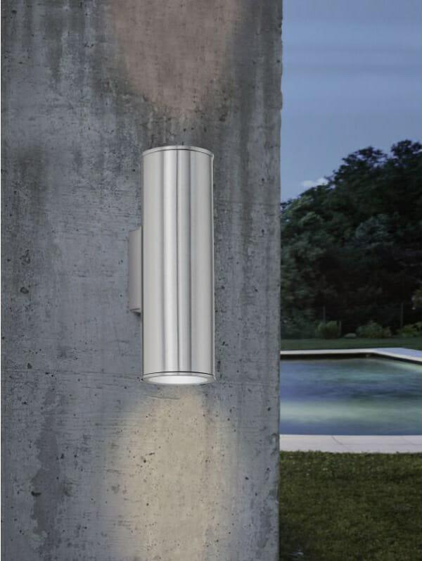 Фасадно LED осветление с цилиндрична форма серия Riga - монтирано