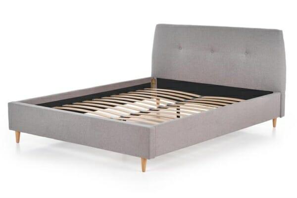 Легло със светлосива дамаска и подматрачна рамка
