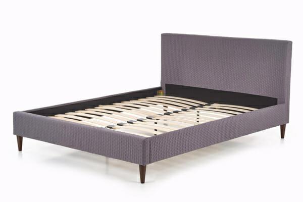 Тапицирано сиво легло с подматрачна рамка