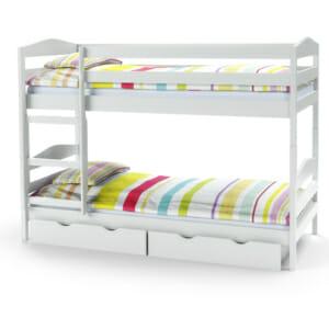 Бяло двуетажно детско легло (2 варианта)
