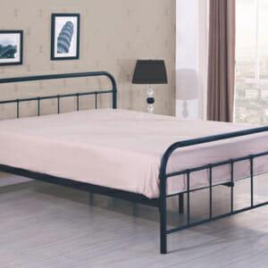 Черно стоманено легло в индустриален стил-2 размера