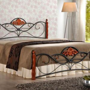 Двуцветно легло от метал и дърво в класически стил