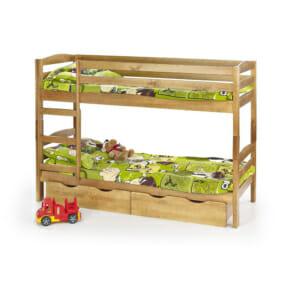 Двуетажно детско легло в цвят елша (2 варианта)