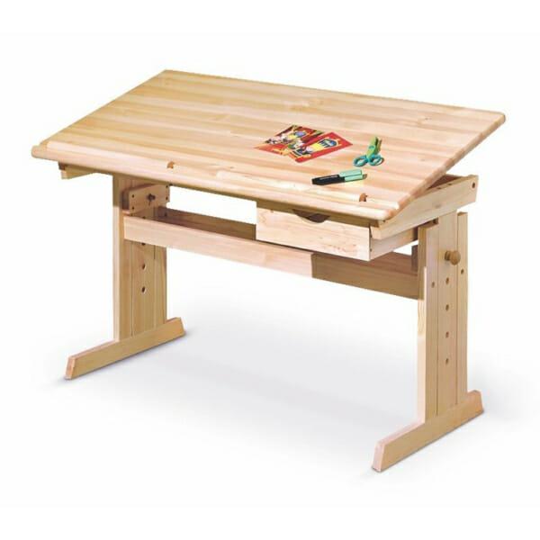 Дървено бюро с повдигащ механизъм