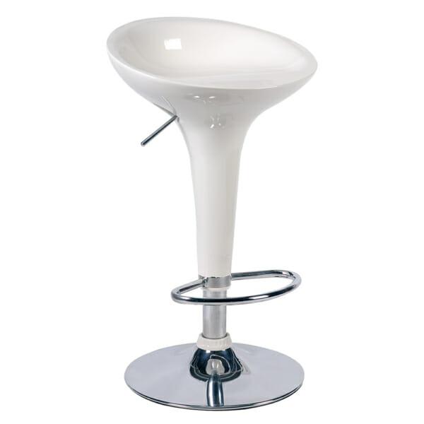 Елегантен бар стол с ринг за крака в 3 цвята