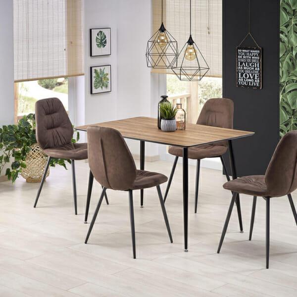 Елегантна трапезна маса с правоъгълна форма