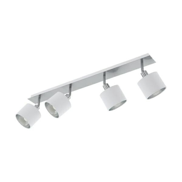 Елегантно LED спот осветление в бяло и сребро Valbiano - четворка