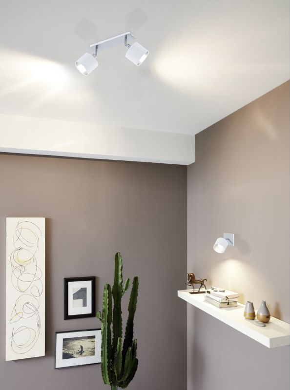 Елегантно LED спот осветление в бяло и сребро Valbiano - интериор