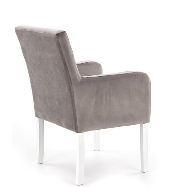 Елегантно кресло от масивно дърво и текстилна дамаска - в диагонал
