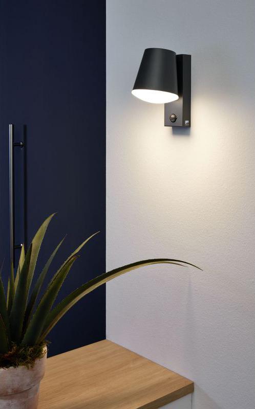 Фасаден аплик със сензор Caldiero - светнат