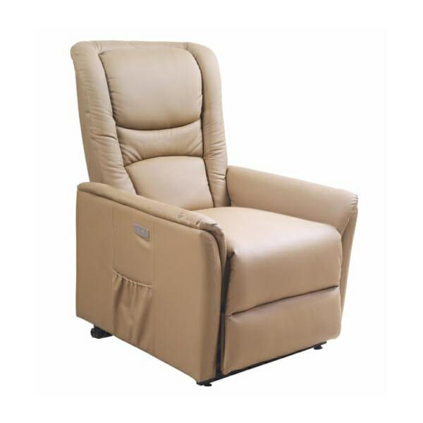 Фотьойл от красива еко кожа с маса с масажна подгряваща и повдигаща функции
