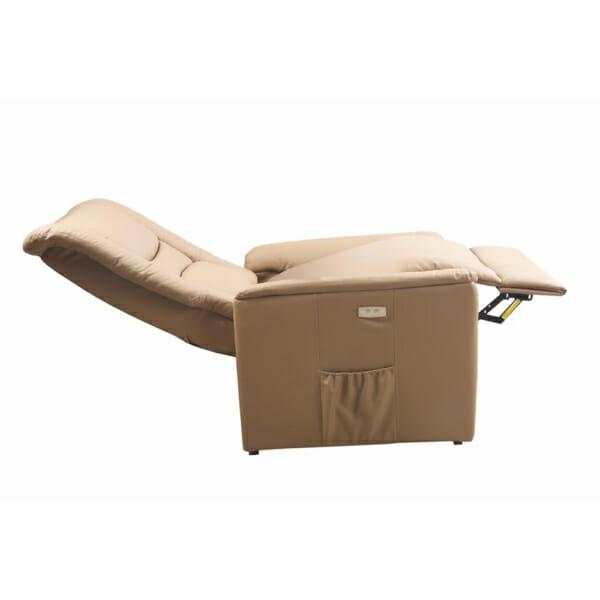 Фотьойл от еко кожа с маса с масажна подгряваща и повдигаща функции - разтегнат вариант