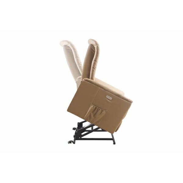 Фотьойл от еко кожа с маса с масажна подгряваща и повдигаща функции - изглед в профил