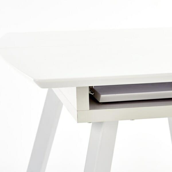 Функционална разтегателна маса за трапезария в бяло - елемент