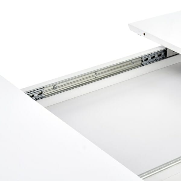 Функционална разтегателна маса за трапезария в бяло - сегмент