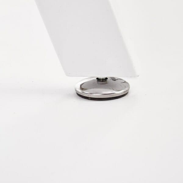 Функционална разтегателна маса за трапезария в бяло - краче