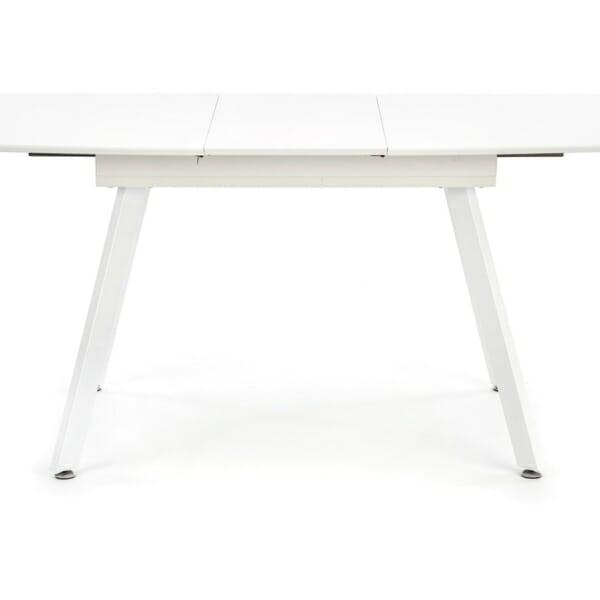 Функционална разтегателна маса за трапезария в бяло - разтегнат
