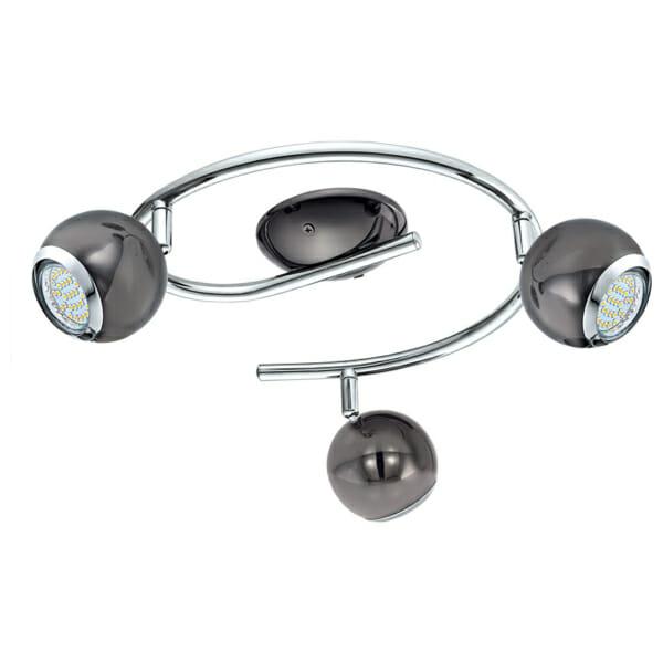 LED спот осветително тяло от дърво и стомана Townshend 3 с вариации - черен никел - тройка