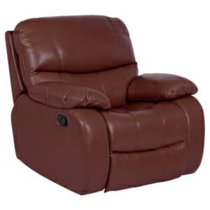 Кожен релакс фотьойл въртящ се - 360°