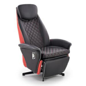 Коженоцветно кресло с релакс механизъм и спортна визия