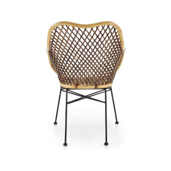 Красив стол от ратан с седалка и подлакътници - гръб