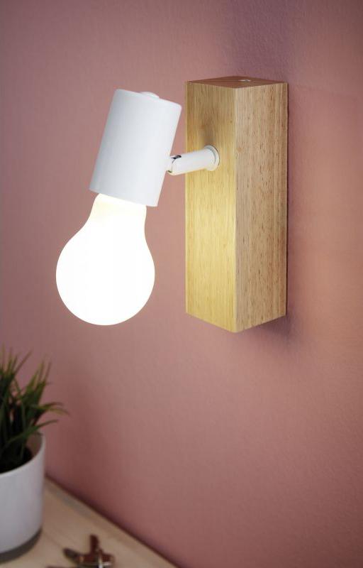 LED спот осветително тяло от дърво и стомана Townshend 3 - интериорна