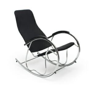 Люлеещ се стол от метал в цвят черно и хром
