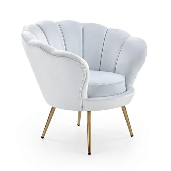 Луксозно кресло с подлакътници във формата на мида (2 цвята) - диагонал